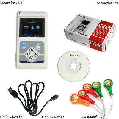 CONTEC ECG Holter System 3 Channel 24 Hours Recorder Monitor Software Analyse US
