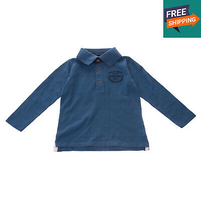 NAME IT Polo Shirt Size 9-12M / 92CM Patched Back Long Sleeve Collared Neck