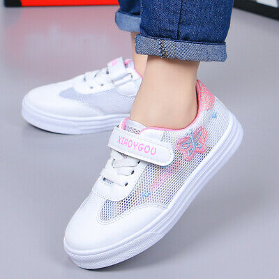 Fashion Kids Girls Mesh Sports Shoes Children Students School Sneakers