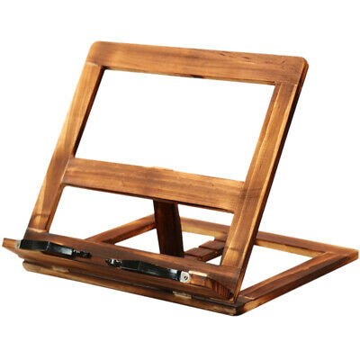 Foldable Recipe Book Stand,Wooden Frame Reading Bookshelf,Tablet Pc Support C8P1
