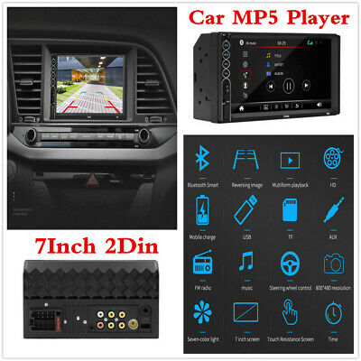 """2 Din 7"""" HD Touch Car Stereo MP5 Player Bluetooth USB Radio Audio FM Receiver"""