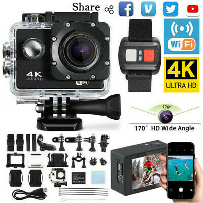 4K Ultra Full HD 1080P Video Recorder Sports Camera WiFi Cam DV Action Camcorder