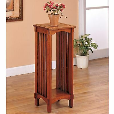 Mission Traditional Oak Plant Stand Brown