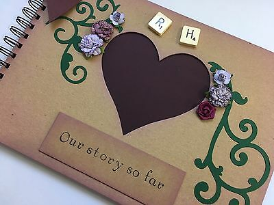 Personalised Scrapbook Album 1st Wedding Anniversary Gift Idea memory book