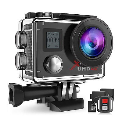 Campark ACT76 Action Camera 4K 16MP Wifi Underwater 30M with Remote Control IP68
