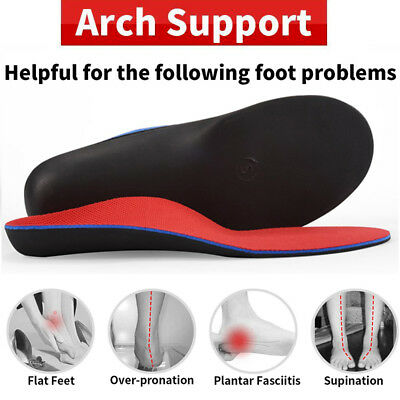 Flat Feet Orthotic Insoles Arch Support Plantar Fasciitis Heel Pain Relief Pairs