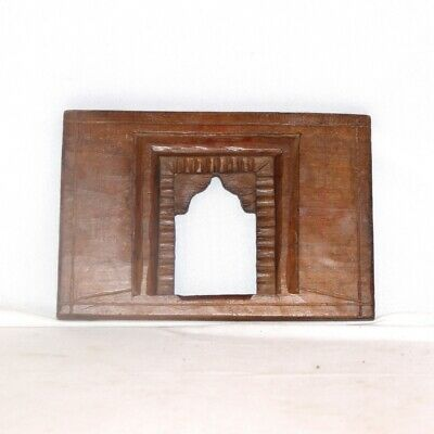 1850's Indian Antique Hand Carved Old Wooden Wall Hanging Frame / Temple 11220