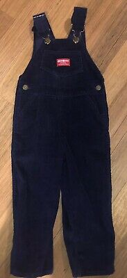 OshKosh Kids Boys Girls Navy Corduroy Overalls Size 4T USA As New (Aust 3)