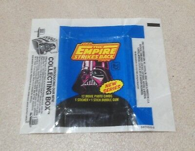 1980 Topps The Empire Strikes Back (Series 2) Wax Pack Wrapper (COLLECTING BOX)