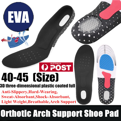 Unisex Orthotic Support Shoe Pad Sport Running Gel Insoles Insert Cushion Kit LK