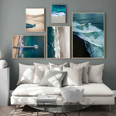Ocean Waves Beach Poster Seascape Canvas Wall Print Nordic Decoration Picture