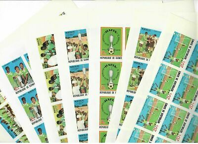 GUINEA MNH Nuovi 1979 African football 7v IMPERFORATED SHEET s31647