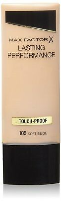 Max Factor Lasting Performance Liquid Foundation, 35 ml, 105 Soft Beige