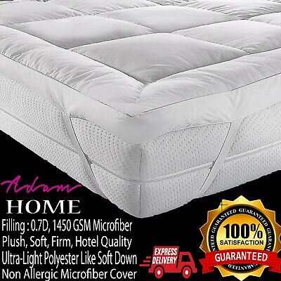 Premium Microfiber Mattress Topper Protector Soft Quilted Mattress Pad 5CM Thick