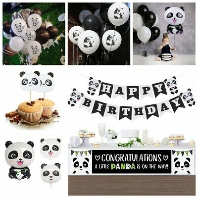 Kids Favors Birthday Party Banner Inflatable Toy Foil Balloons Panda Theme