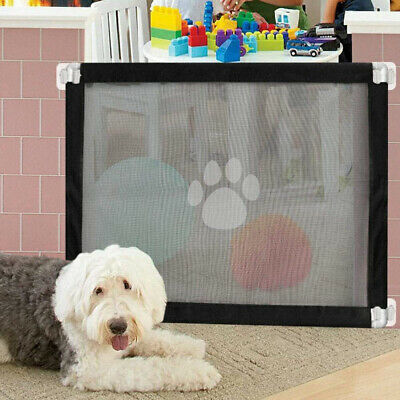 Folding Retractable Pet Dog Gate Safety Guard Baby Toddler Stair Magic Isolation