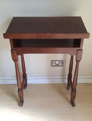 Victorian Oak Lectern Hall Console Table Stand