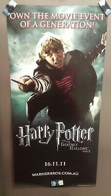 Fantastic Harry Potter Deathly Hallows 2 Poster Ron/Hermoine. Great condition.