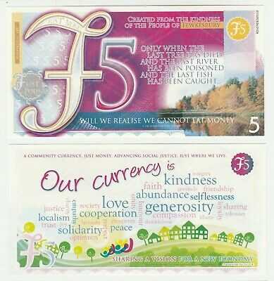 UK Tewkesbury £5 5 Pound UNC Local Currency Prototype Banknote