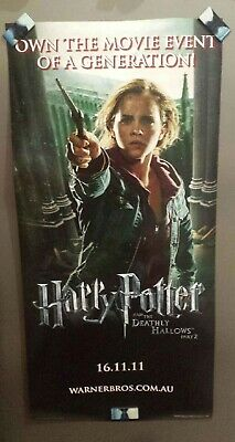 Fantastic Harry Potter Deathly Hallows 2 Poster Hermoine/Ron Great condition