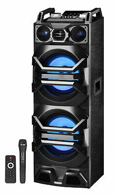 "Technical Pro Dual 10"" 3000w Bluetooth Karaoke Machine System w/USB/SD/LED+Mic"
