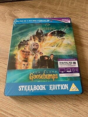 Goosebumps 3D - Jack Black - Steelbook Blu-Ray Brand New/Sealed