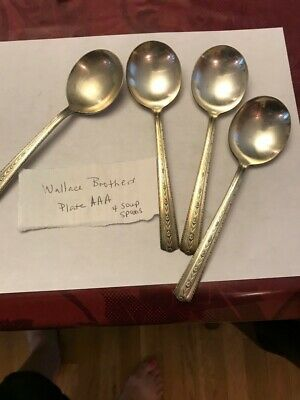 Vintage Wallace Brothers Silverplate Spoons Silverware - 9 Pieces in Total