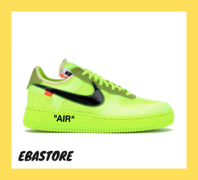 NIKE Air Force 1 Low OFF WHITE Volt '07 LV8 Utility Hyper Uomo  Shoes AO4606-700
