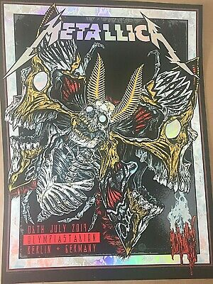 🔥 METALLICA VIP ONLY BERLIN JULY 6th 2019 Iridescent Rainbow foil POSTER PRINT