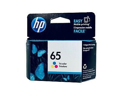 New Genuine HP 65 Color Ink Cartridge Deskjet 2622 2634 3720 ENVY 5010 5055 5020