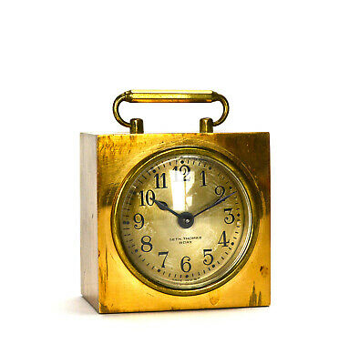 Original Rare 1940 Seth Thomas Candor 8 Day Brass Case Carriage Clock