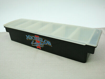 Michelob Light Condiment Tray with 6 inserts and Lid Bar Caddy Fruit Holder