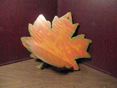 Vintage Hand Crafted Wooden Decorative Maple Leaf Wall Shelf