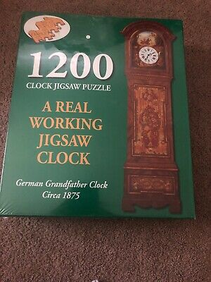 Puzzle Makers Father Time German Grandfather Working Clock 1200 Piece Puzzle NIB