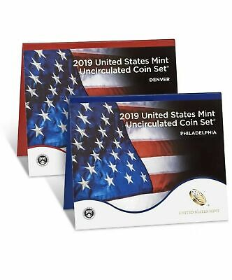 2019 P & D Us Mint Uncirculated 20 Coin Set - No 'W' Lincoln Penny