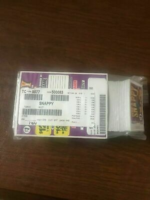 """""""Snappy"""" Pull Tabs 1 Window 190 Tickets Payout $125  Free Ship USA"""
