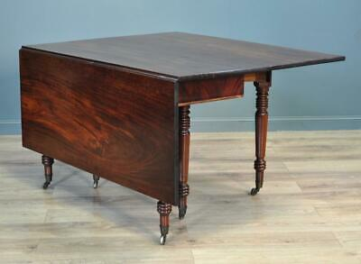 Attractive Antique Early Victorian Mahogany Drop Flap Dining Table