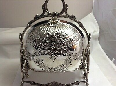 Italian 800 Solid Silver Folding Biscuit Box