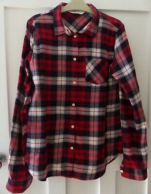 Immaculate H&M Girls Brushed Cotton Shirt, Size 12-13 yrs, Red/Black/White Check