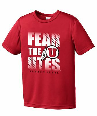 10-12 NCAA by Outerstuff NCAA Utah Utes Youth Boys Cannon Ball Alternate Color Tri-blend Tee Youth Medium Black
