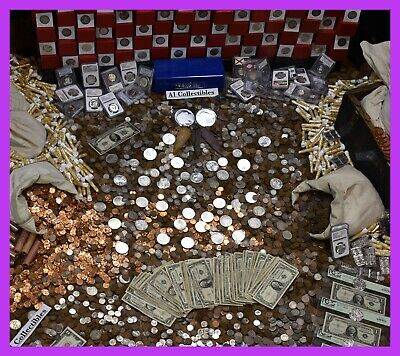 🔥Massive Estate Sale Gold .999 Silver Bullion Rare Old Coins Money Mixed Lot 🔥