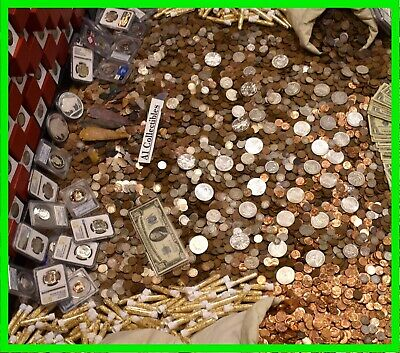 $ Old Us Estate Sale Gold .999 Silver Bullion Rare Coins Paper Money Mixed Lot $