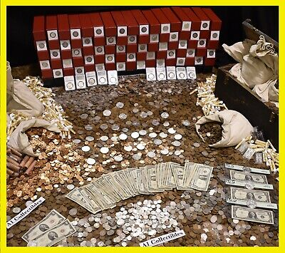 Old Estate Lot Sale Us Coins Gold Bullion .999 Silver Treasure Hoard Collection!