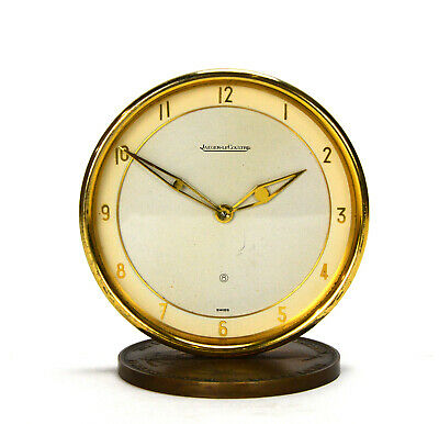 Vintage Swiss Jaeger LeCoultre 8 Day Round Table Clock - Custom Made