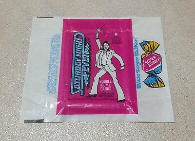 1977 Donruss 'Saturday Night Fever' Trading Cards - Wax Pack Wrapper
