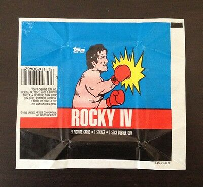 1985 Topps 'Rocky IV (4)' - Both Wax Pack Wrapper Variations