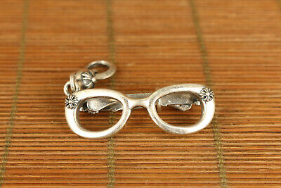 925 silver hand carving vintage BOW pendant