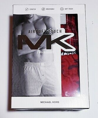 Michael Kors MK Mens Boxers 2 Pack - Airsoft Touch Woven Cotton - Size M