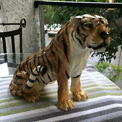 Mid Century Modern..ronzan 1558..Hand Painted..bengal Tiger..made In Italy
