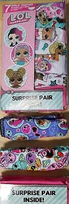 10 Pack LOL Surprise Girls Panties Calzones Size 8 with 2 Surprises Brand New